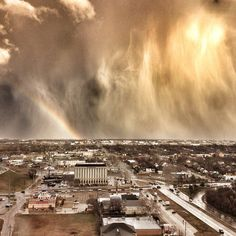 """Oklahoma has some of the craziest weather."" - Blake K. Brown, #Mashpics #Weather"