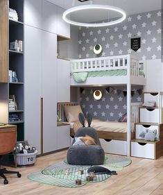Intense Neoclassical Interior with Cobalt and Emerald Coloured Accents Intensives neoklassizistisches Interieur mit kobalt- und smaragdfarbenen Akzenten Neoclassical Interior, Kids Bedroom Designs, Kids Room Design, Baby Room Decor, Bedroom Decor, Girls Bedroom, Cool Kids Rooms, Boy Room, Home