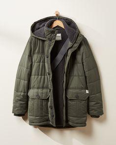 Men's Freedom Quilted Puffer Coat - Bundle Up Mens Winter Coat, Winter Coats Women, Coats For Women, Vest For Sale, Mens Sherpa, Long Puffer Coat, Parka Style, Denim Coat, Vest Jacket