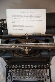 vintage remington typewriter for hire from Soul Stories - http://soulstories.net.au #wedding #guestbook