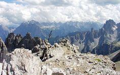 Vetta del Monte Paterno di fronte alle Tre Cime