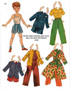 """PETER 1948 Lucy Eleanor Leary's """"BOSTON SUNDAY POST"""" Newspaper Paper Dolls 1940s & 1950s"""