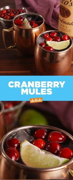 Cranberry Mules