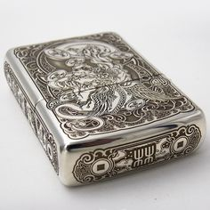 Armor Zippo Sterling Silver Brave Troops Lighter