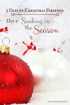 Giving your presence at Christmas is one of the main ways you can show love to those around you.  Here are five ways to soak in the season together for free!