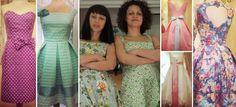 Lazy D: 2 Ikariotisses design the most beautiful retro dresses in Greece Retro Dress, Lily Pulitzer, Lazy, Greece, Most Beautiful, Dresses, Design, Fashion, Moda