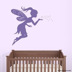 Cool Fairy Kisses Wall Decal Fairy Decal Fairy by WallumsWallDecals