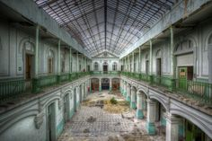 School is uit van Chantal Nederstigt School Is Over, Villas In Italy, Green Fence, Time Stood Still, Glass Roof, Medieval Castle, Photographic Prints, Abandoned Places, Belgium