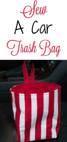 Sew an easy DIY Car Trash Bag. #Car #trashbag #sewing #sewingtutorial