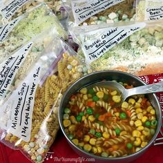 Just add boiling water for 8 instant, nutritious soups that are perfect for backpacking, Dry Soup Mix, Soup Mixes, Backpacking Food, Camping Meals, Hiking Food, Ultralight Backpacking, Hiking Tips, Hiking Gear, Doritos