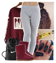 """""""Errybody got the crown so i snatched that"""" by naebreezy ❤ liked on Polyvore featuring Casetify, NIKE, UGG Australia, women's clothing, women, female, woman, misses and juniors"""