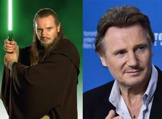 Where Are They Now? Star Wars Episode I: The Phantom Menace - Liam Neeson as Qui-Gon Jinn - Then and Now from 8Ball.co.uk / www.8ball.co.uk/blog/8ball_film/phantom-menace-now/