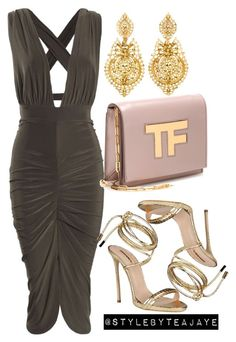 """Untitled #1701"" by stylebyteajaye ❤ liked on Polyvore featuring Tom Ford, Dsquared2 and Heller"