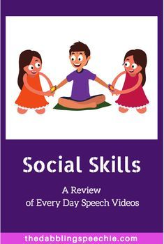 Social Skills: A review of Every Day Speech videos.