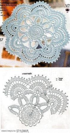Watch The Video Splendid Crochet a Puff Flower Ideas. Wonderful Crochet a Puff Flower Ideas. Crochet Doily Diagram, Crochet Mandala Pattern, Crochet Circles, Crochet Flower Patterns, Crochet Chart, Thread Crochet, Crochet Designs, Crochet Flowers, Crochet Hooks