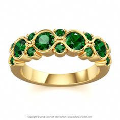 Green Tourmaline Ring by Stephen Clarke for Colors of Eden