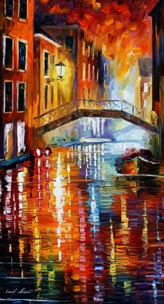 THE CANALS OF VENICE by Leonid Afremov