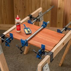 Use these mounting b  Use these mounting brackets to make a quick on-site vise for holding and clamping your latest woodworking project.