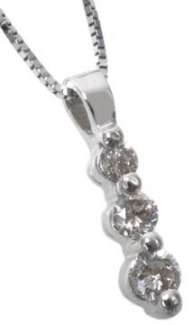 Diamond pendant with 0.22carat total diamond weight in 14k white gold | #sparkle | Hannoush.com