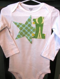 Applique Onesie One Year Amy Butler & Heather Bailey by alisplace1, $12.00