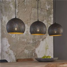 Suspended lamp pendant lamp PUNCH 3 Shades Black Brown- Hängeleuchte Pendelleuchte PUNCH 3 Schirme Schwarz Braun Pendant lamp PUNCH, The three umbrellas are made of black-brown metal, which was cleverly perforated. Lampe Decoration, Bright Homes, Bedroom Lamps, Bedroom Decor, Unique Lamps, Lamp Design, Diy Design, Design Ideas, Floor Lamp