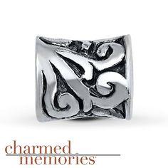 Charmed Memories Swirls Charm Sterling Silver