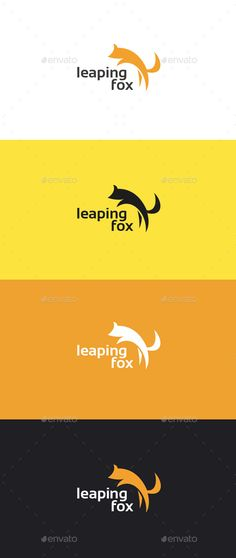 Leaping Fox Logo Template - Animals Logo Templates