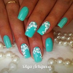 25 Delicate Flower Nail Designs Adding Lovely Blooms To Your Fingertips! The post 25 Delicate Flower Nail Designs Adding Lovely Blooms To Your Fingertips! appeared first on Nail Design. Flower Nail Designs, Best Nail Art Designs, Flower Nail Art, Nail Designs Spring, Beautiful Nail Designs, Nails With Flower Design, Pedicure Designs, Turquoise Nail Designs, Turquoise Nail Art