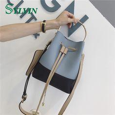 Remarkable Special Design Shoulder Bag Leather Bucket Bag Women