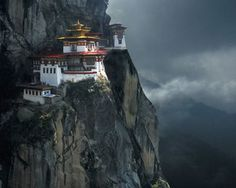Tiger's Nest Monastery (Paro Taktsang), a Himalayan Buddhist temple located in the cliffs of the upper Paro Valley in Bhutan
