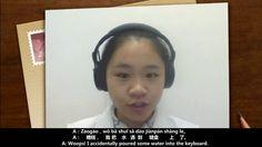 ♡♡Standard Chinese Language Learning♡♡♡ (Mandarin) (2.10) 电脑系列(五)键盘A:Zāogāo,wǒ bǎ shuǐ sǎ dào jiànpán shàng le。 A:糟糕,我把水洒到键盘上了。 A: Woops! I accidentally poured some water into the keyboard. B:Xiān bǎ shuǐ cā gān,shìshì hái néngbùnéng yòng。 B:先把水擦干,试试还能不能用。 B: Dry the keyboard first and then check if it still works. www.e-Putonghua.com