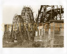 The old wooden roller coaster Abandoned Theme Parks, Abandoned Amusement Parks, Abandoned Places, Free Stock Image Sites, Roller Coaster Ride, Roller Coasters, In The Air Tonight, Creepy Pictures, Park Around