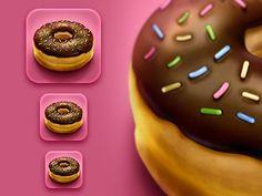 Donut iPhone Icon by Román Jusdado