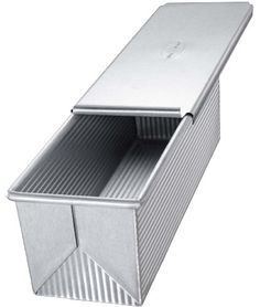 USA Pan Bakeware Pullman Loaf Pan With Cover, 9 x 4 inch,...