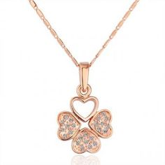 Heart of Clover 18 Karat Gold Plated Necklace