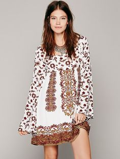 Free People Modern Bell Long Sleeve Dress, $148.00.  I bought in black!