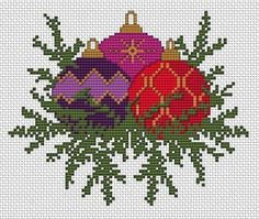 Christmas Decorations cross stitch pattern