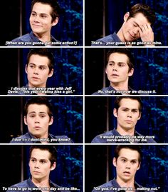 Teen Wolf - Dylan O´Brien in earlier years - When are we gonna see you kiss a girl? Teen Wolf Mtv, Teen Wolf Memes, Teen Wolf Dylan, Teen Wolf Stiles, Teen Wolf Cast, Stydia, Sterek, Dylan O'brien Funny, Funny Meems