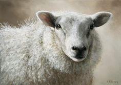 Sold | Sheep Mieke II, oil/canvas 10 x 14 inch (25 x 35 cm) © 2012 Klimas