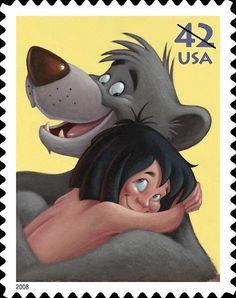 Sello Disney - mowgli baloo de el libro de la selva 2008