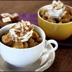 Caramel Bread Pudding for Two - Hungry Girl