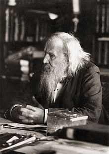 Dmitri Ivanovich Mendeleev Russian:  8 February 1834 – 2 February 1907) was a Russian chemist and inventor. He is credited as being the creator of the first version of the periodic table of elements. Using the table, he predicted the properties of elements yet to be discovered.