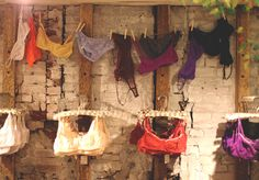 Decor Inspiration: Our New Spring Store Displays Hanging Bras, Snapshot Photography, Store Image, Boutique Interior, Underwear Shop, Free People Store, Store Displays, Retail Shop, Commercial Design