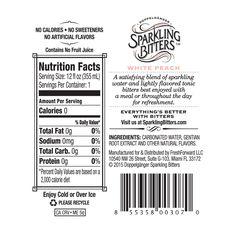 Sparkling Bitters Water Back Label