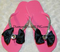 rhinestone bow sandals www.DiamondDivasBLING.com ♥ LIKE ♥ our page today! ♥ www.facebook.com/DiamondDivasBLING ♥ Rhinestone Sandals, Rhinestone Bow, Bow Sandals, 3 Shop, Flip Flops, Bling, Facebook, Cute, Shopping
