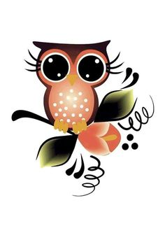 Cute Owl Cartoon, Girl Cartoon, Diy Wine Glasses, Whimsical Owl, Painted Mason Jars, Stained Glass Projects, Summer Design, Art Clipart, Owl Art