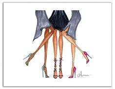 Fashion Illustration Print, Heels
