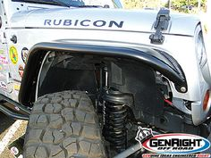 "GenRight Jeep JK front tube fender in steel with 4"" flare.  http://www.genright.com/ProductInfo.aspx?productid=TFF8700"