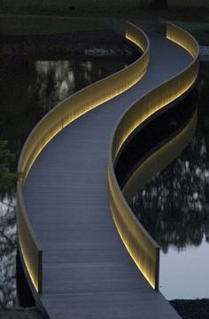 Sackler Crossing Royal Botanic Gardens Kew, London designed by Architect John Pawson