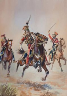 GIRBAL. Le général Edouard de Colbert blessé au bras conduisant la charge